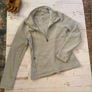 Prana pop over 1/2 zip fleece sweatshirt top M